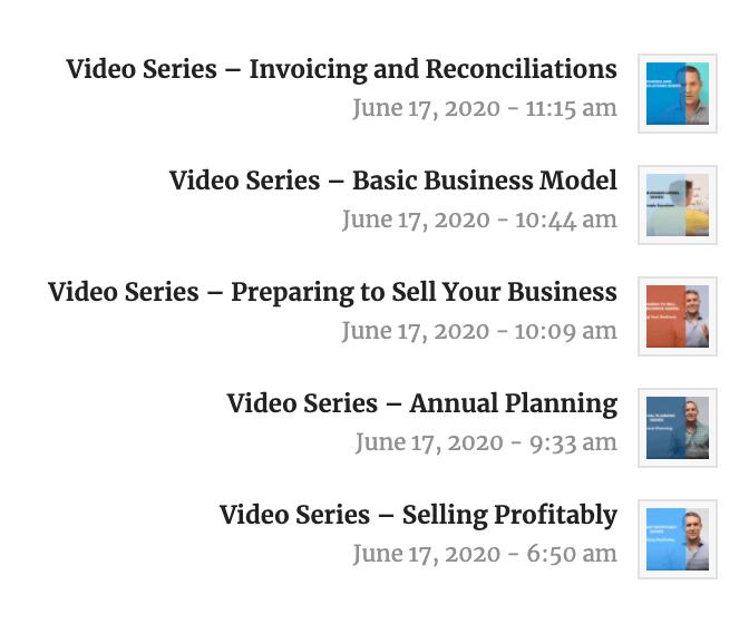 video preview menu